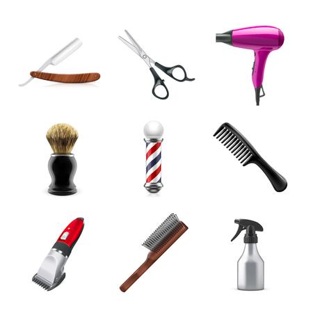 Barber set Stock Photo
