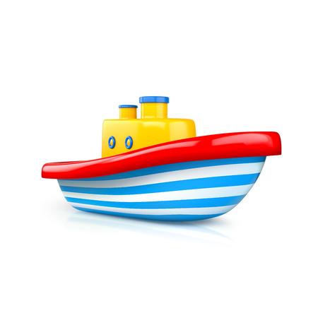 Ship toy studio shot. 3d illustration Stock Photo