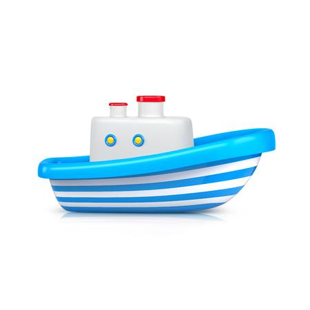 Ship toy studio shot. 3d illustration Фото со стока