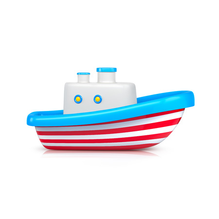 Ship toy studio shot. 3d illustration Stock Photo