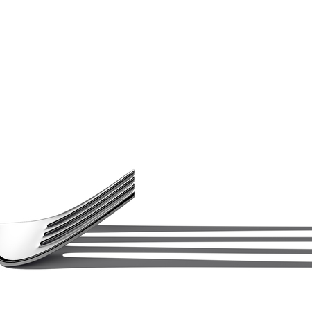 Fork shadow lines. Geometry lines creative concept