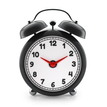 Alarm clock isolated on white background. 3d illustration