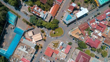 aerial view of the city of Arusha, Tanzania Standard-Bild