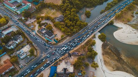aerial view of the selander bridge, Dar es Salaam