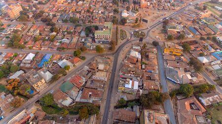vue aérienne de la ville de Morogoro Banque d'images