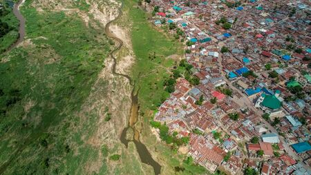 aerial view of jangwani area