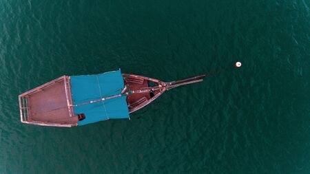 aerial view of fisherman's dhow