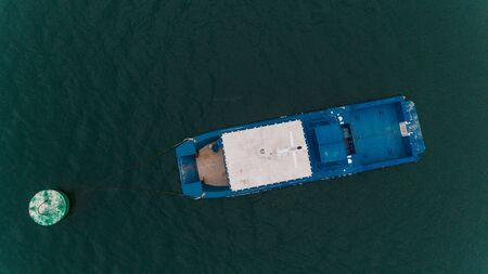 aerial view of the luxurios yatch