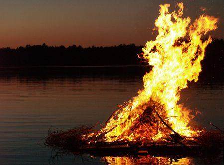 midsummer: Midsummer bonfire in Finland