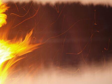 midsummer: Sparks of Midsummer in Finland Stock Photo