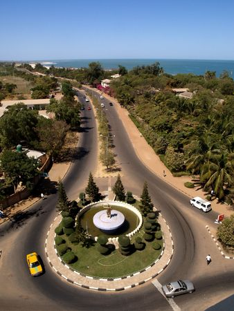 Banjul the capital of The Gambia Stock Photo