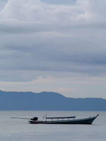 chang: Long tail boat in Thailand (Ko Chang island west side) Stock Photo