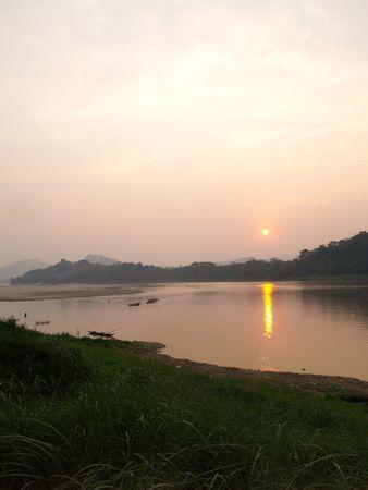 Mekong river at Luang Prabang (Laos) Фото со стока - 4908338