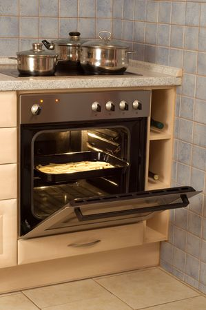 Open built-in electric oven