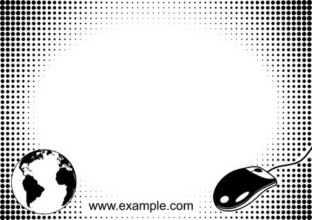 bw: Iternet concept halftone background template