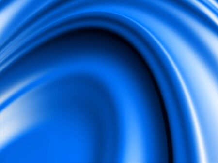 Smooth 3D blue abstract background with shadowed round folds photo