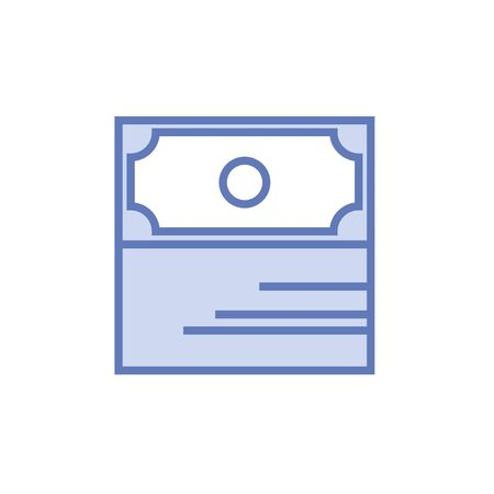 us paper currency: Money stack minimalistic style