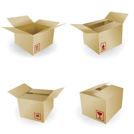 verhuis dozen: scheepvaart vak vector
