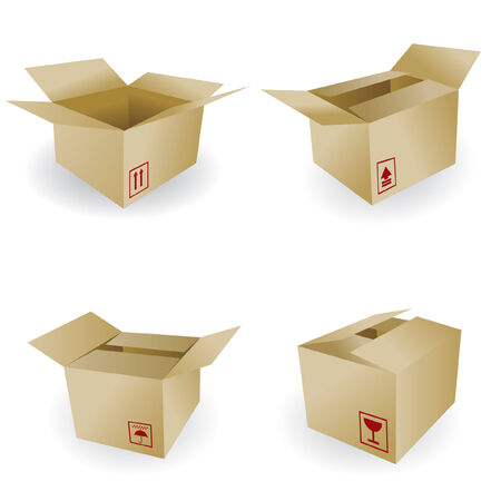 storage boxes: shipping box vector