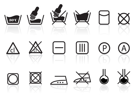 Laundry and Textile Care Symbols Vector