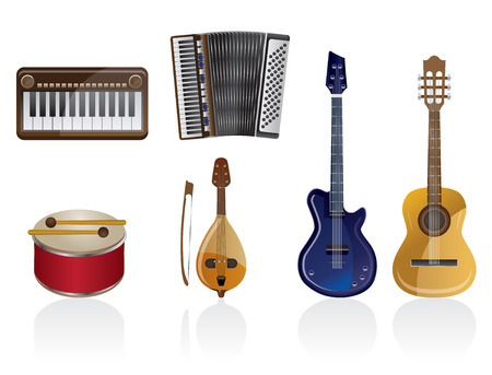 Music instrument Icon set 1 Vector