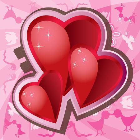 Valentine Love Background Stock Vector - 4251055