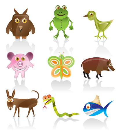 wild animal vector - cartoon series 1