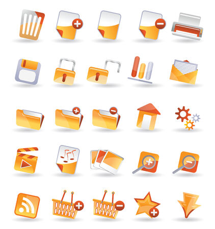 25 Detailed Internet Icon Stock Vector - 4251052