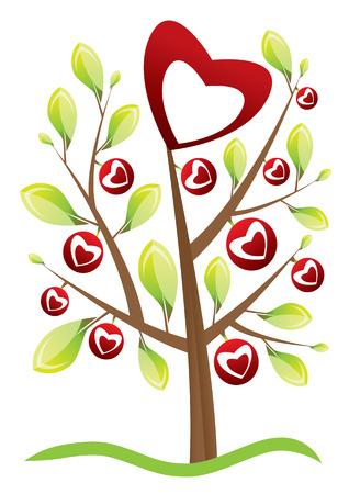 valentine's day tree Stock Vector - 4397188
