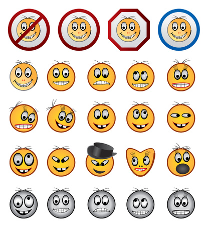 Smiling faces Stock Vector - 4397185