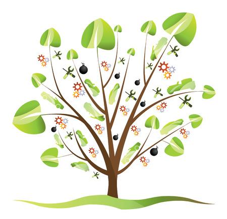 Car Tree Stock Vector - 4397186