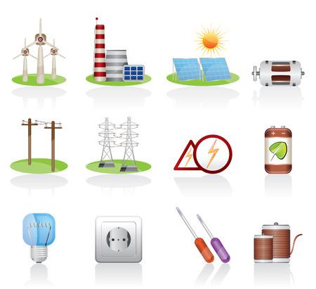 Elektryczność ikona Ilustracje wektorowe