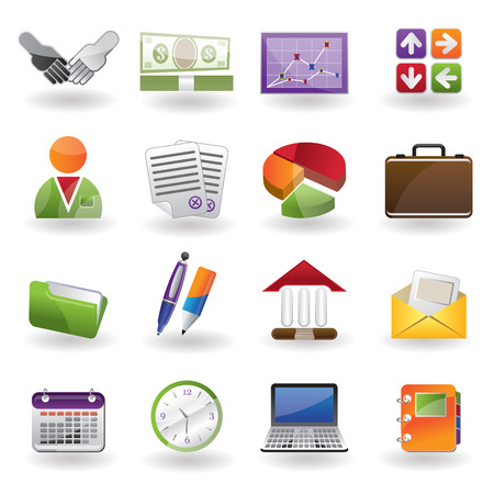 stat: Business and office icon Illustration