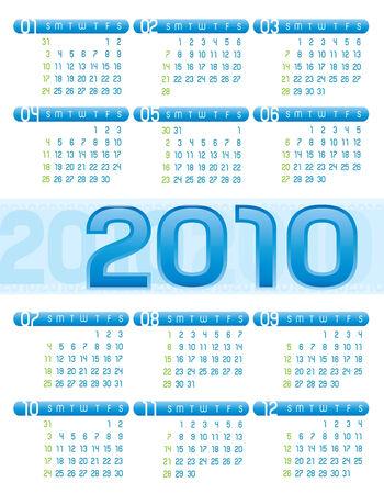 Vector Calendar 2010 Vector