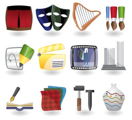 arpa: arte icono conjunto