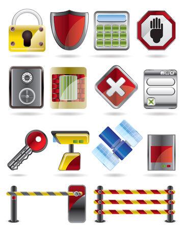 sensores: Seguridad y Negocios icono conjunto