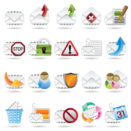 Mail Vector and Letter Icons Stock Vector - 4397196