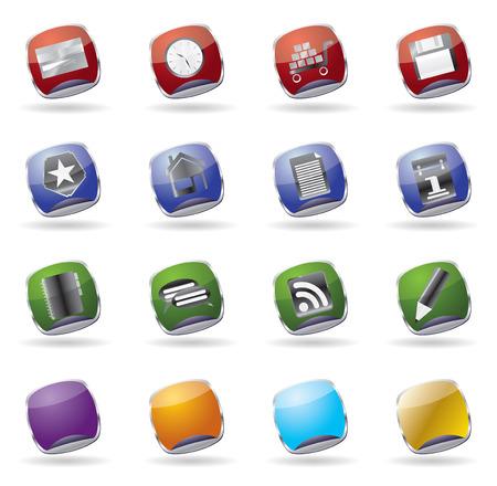 internet glass vector icon set Stock Vector - 4526077