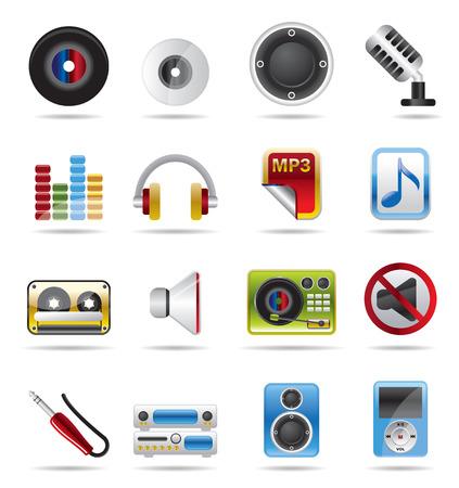 boite a musique: Musique Vector Icon Set