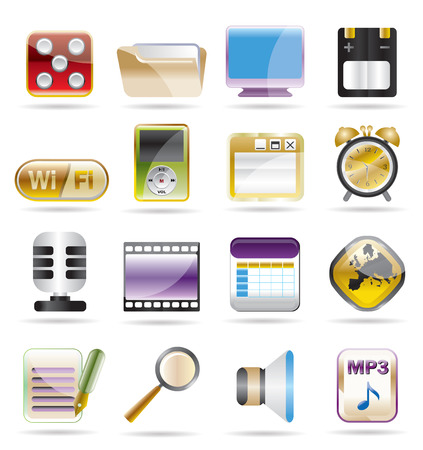 phone  performance, internet and office icon set 2 Vector