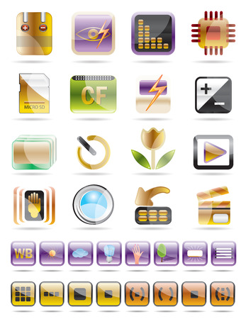 Digital Camera  Performance - Vector Icon Set Stock Vector - 4526085