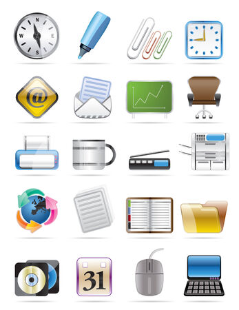 Office tools vector icon set 2 Stock Vector - 4526083