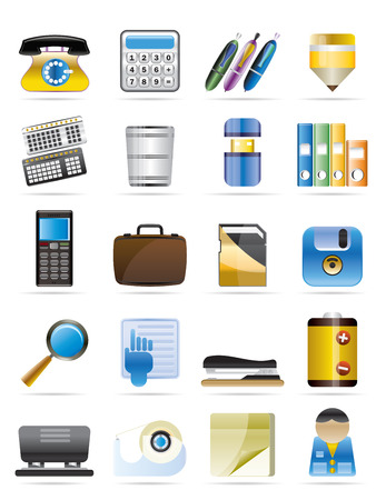 Office tools vector icon set 3 Vector