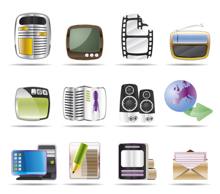 Media icons - Vector Icon Set Stock Vector - 4526081