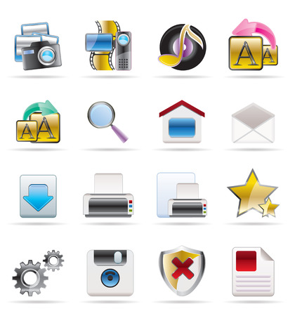 Internet and Website Vector Icon Set Stock Vector - 4572100