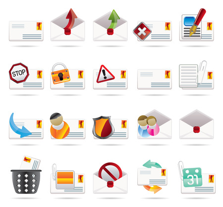 sender: Mail Vector and Letter  -Vector Icon Set 2