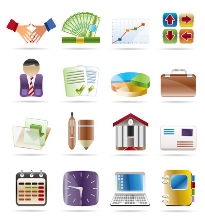 contracts: Business and office icon Illustration