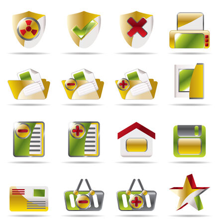 Internet and Website Vector Icon Set 2 Stock Vector - 4572099