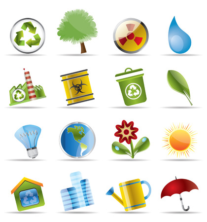 Realistic Icon - Ecology - Set for Web Applications - Vector Vector