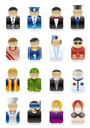 astronauts: People Professions - Vector Icon Set
